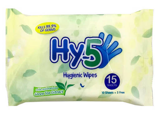 Picture of HY-5 HYGIENIC WIPES (GREEN TEA MOISTURIZING EXTRACT) 15'S