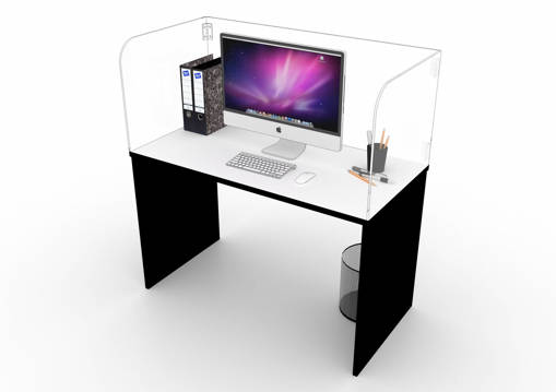 Picture of Foldable protective divider for single table
